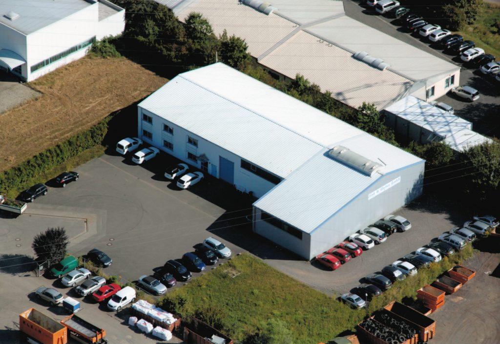 Luftaufnahme alte Lagerhalle Fink & Walter GmbH